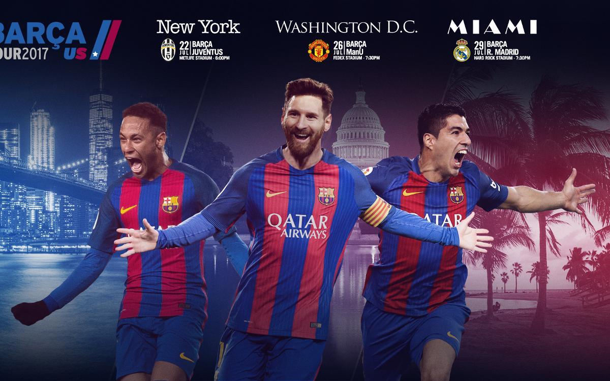 2017年夏、FCバルセロナが米国遠征を実施