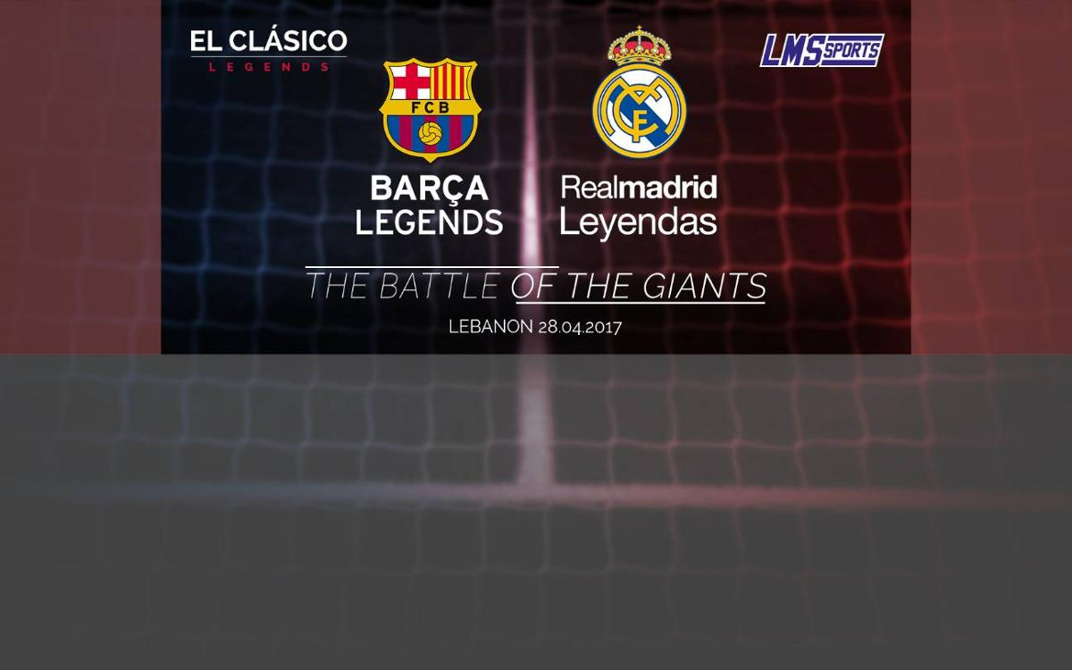 Legends of FC Barcelona and Real Madrid to play in Lebanon