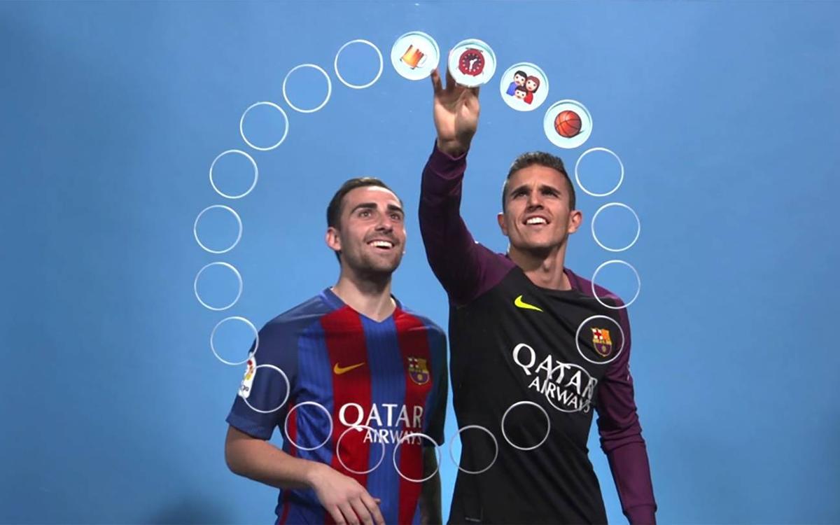 Vidéo - Alcàcer et Masip décrivent leurs coéquipiers du FC Barcelone en émojis