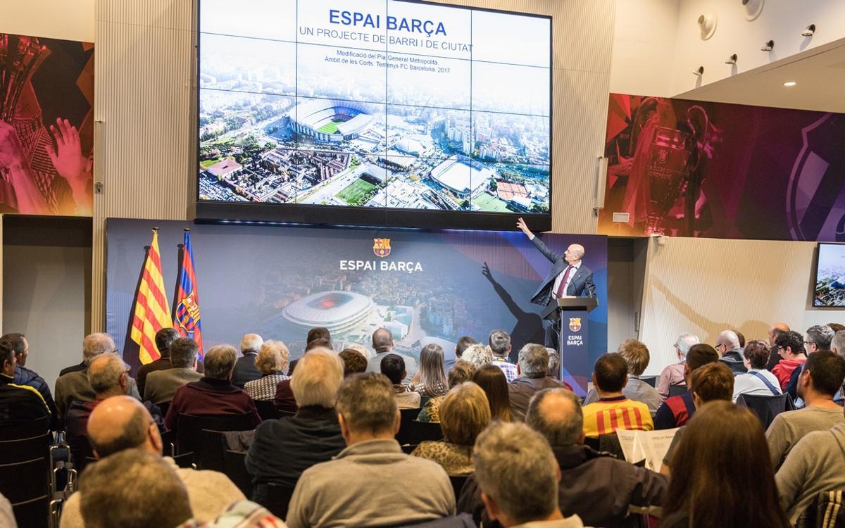 Presentada la propuesta de modificación urbanística del Espai Barça