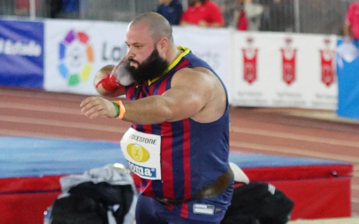 Carlos Tobalina, medalla de plata en peso en la Copa de Europa de lanzamientos