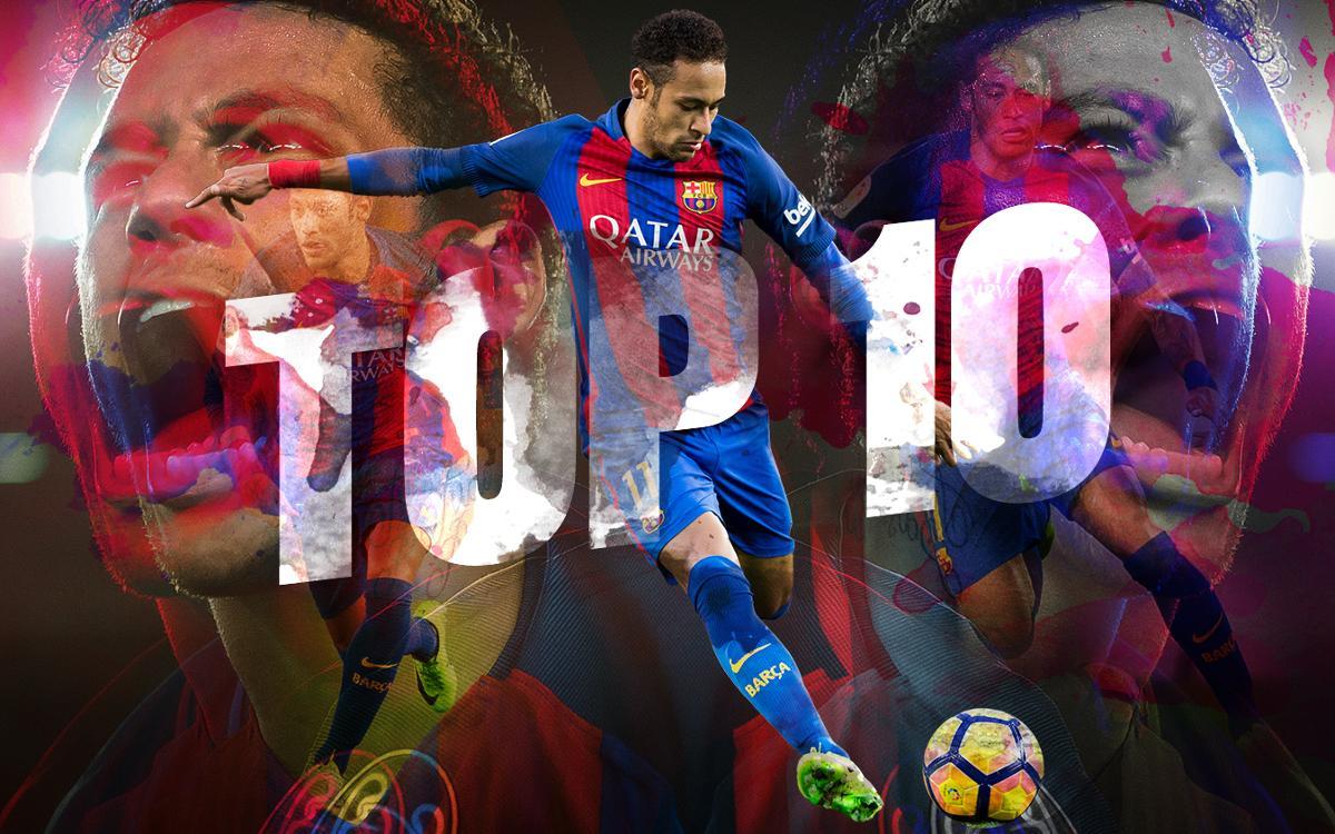 Los 10 mejores goles de Neymar Jr