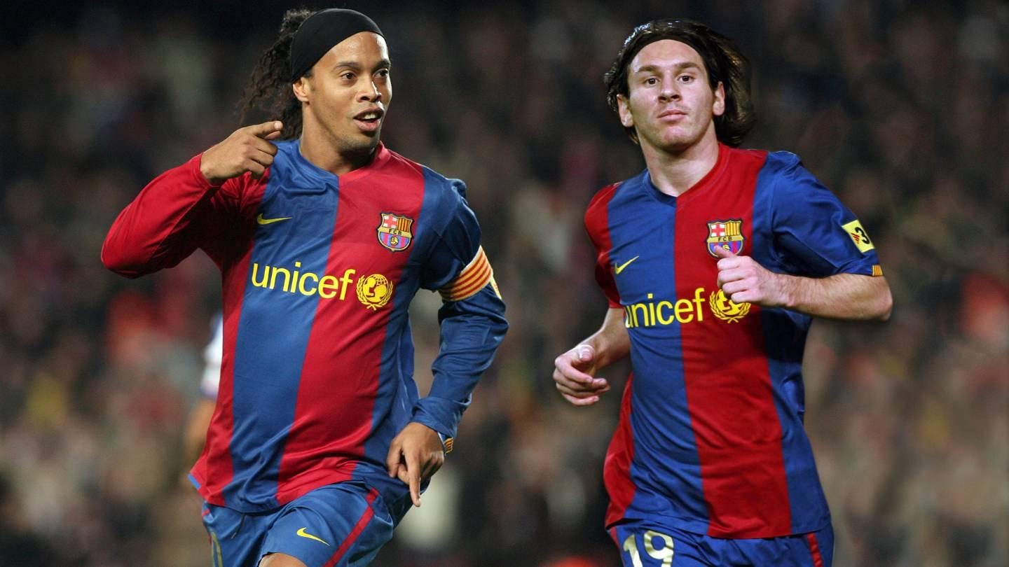 Ronaldinho and Messi, a lethal combination