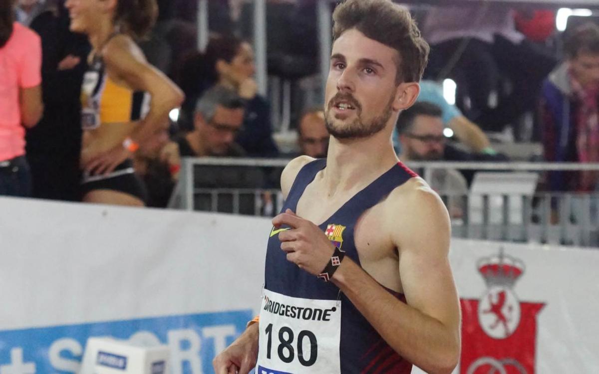El azulgrana Álvaro de Arriba, medalla de bronce en el Europeo de pista cubierta
