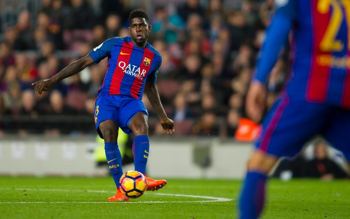 Samuel Umtiti: pleno al 15 en la Lliga con el FC Barcelona