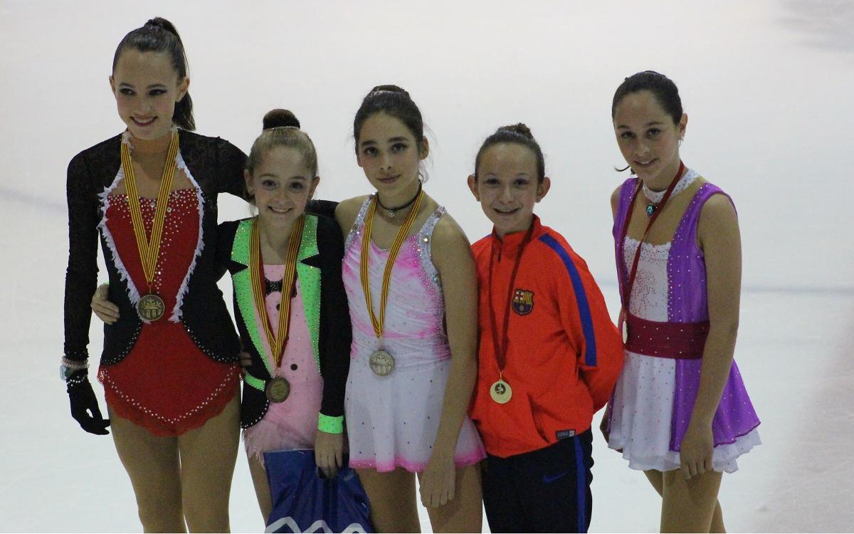 Quatre patinadors del FC Barcelona es proclamen campions de Catalunya