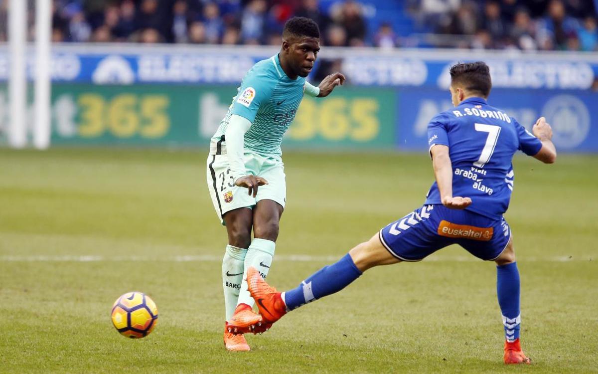 12 victoires en 12 matches pour Umtiti en Liga avec le FC Barcelone