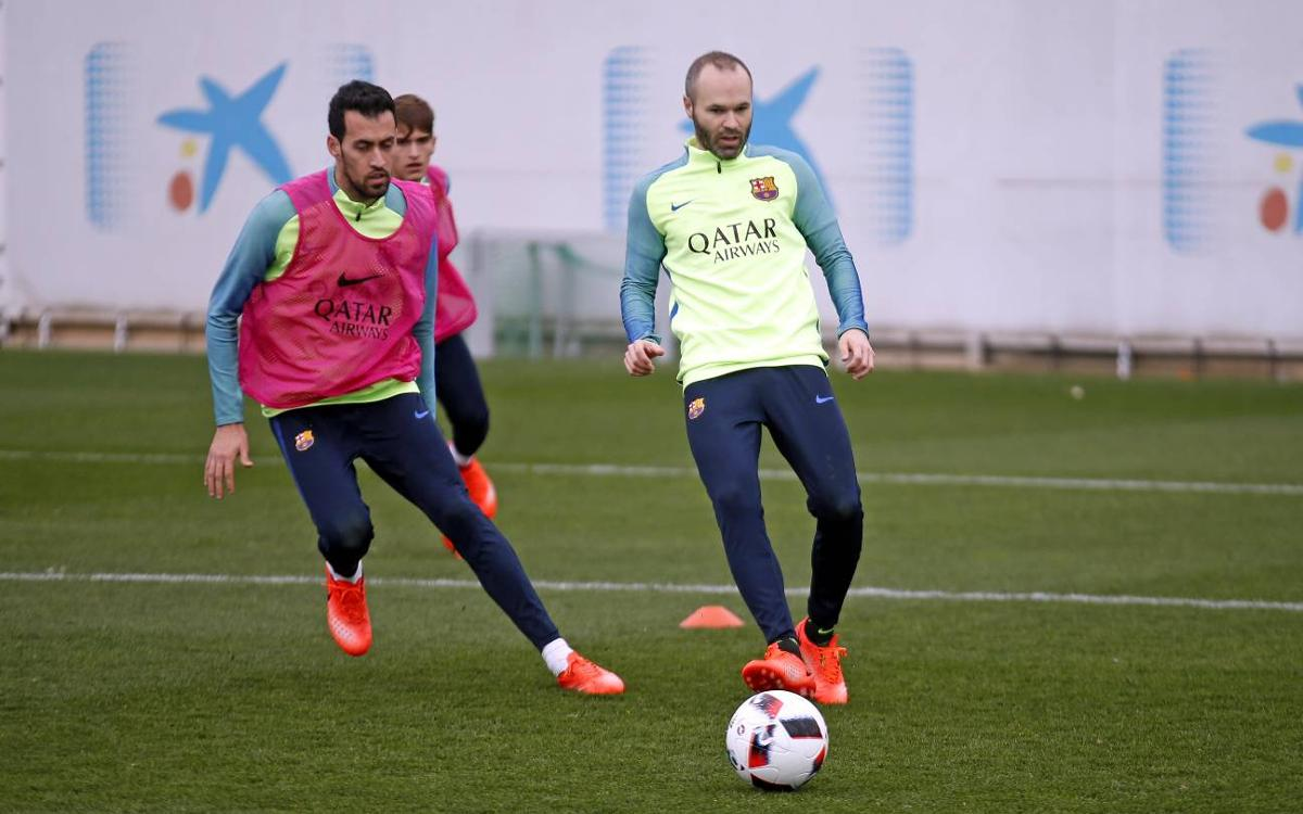 Sergio, Iniesta and Digne all back
