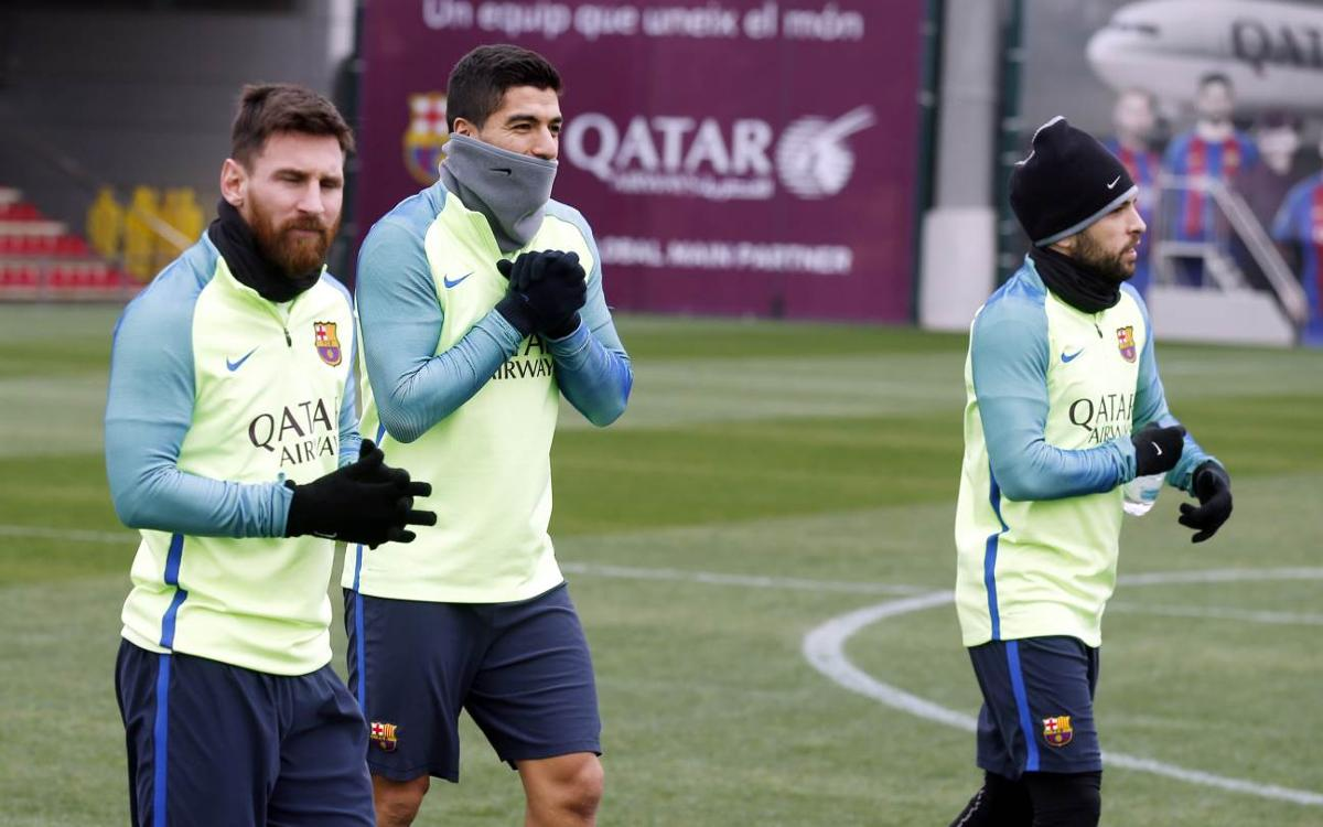 Recovery session as attention switches to Betis on Sunday