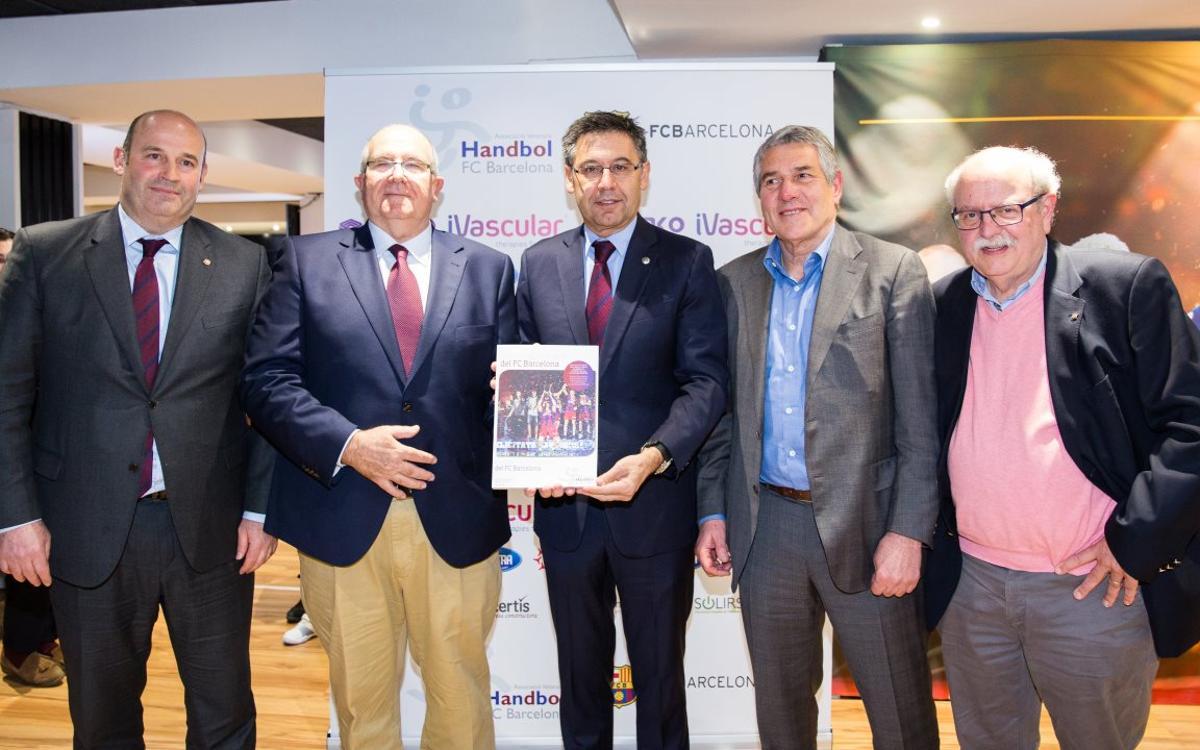 Presentat el llibre 'Història de l'handbol del FC Barcelona'