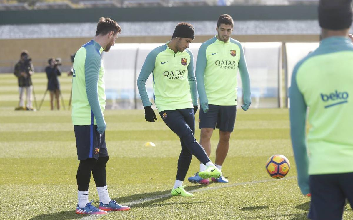 Final training session before Athletic clash