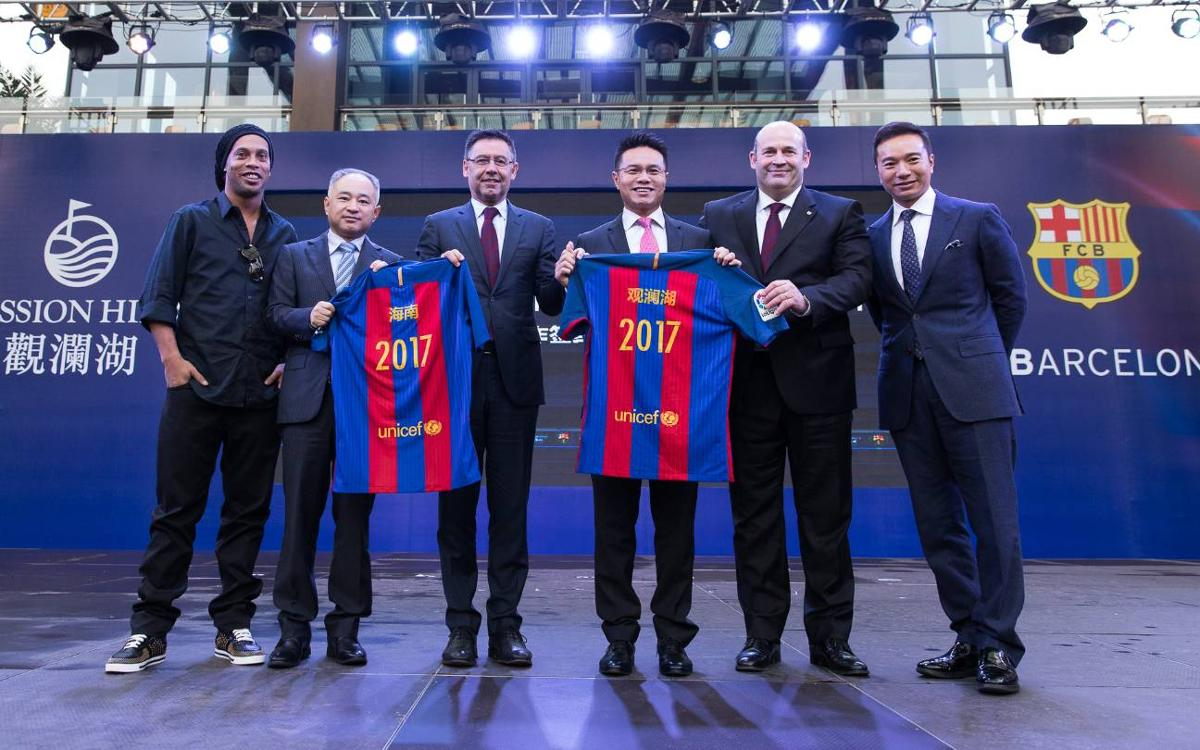 Signature of agreement between FC Barcelona and Mission Hills: New step forward in the club's global strategy