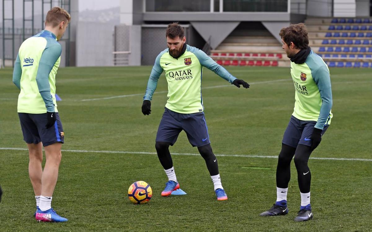 Sesión de recuperación para centrarse en la Liga