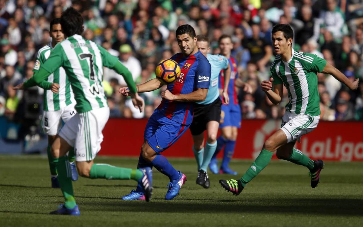 FC Barcelona's draw at Real Betis, by the numbers