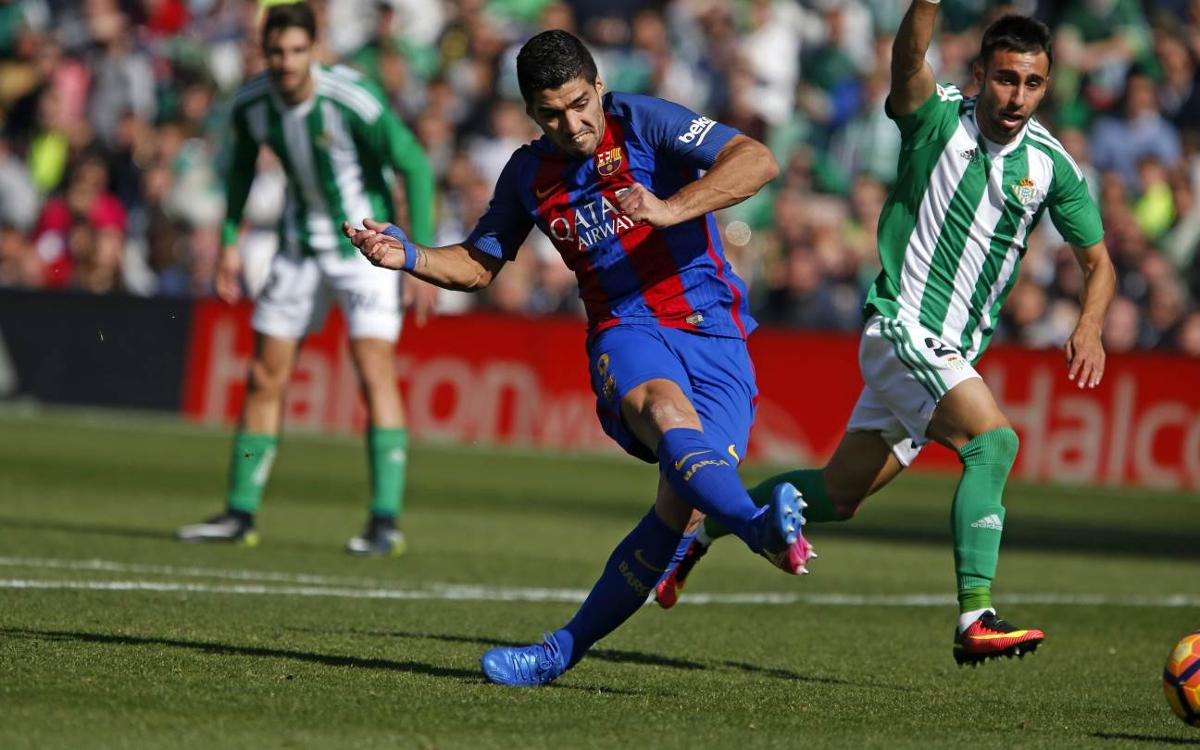 [MATCH REPORT] Real Betis 1-1 FC Barcelona: Suárez salvages late point