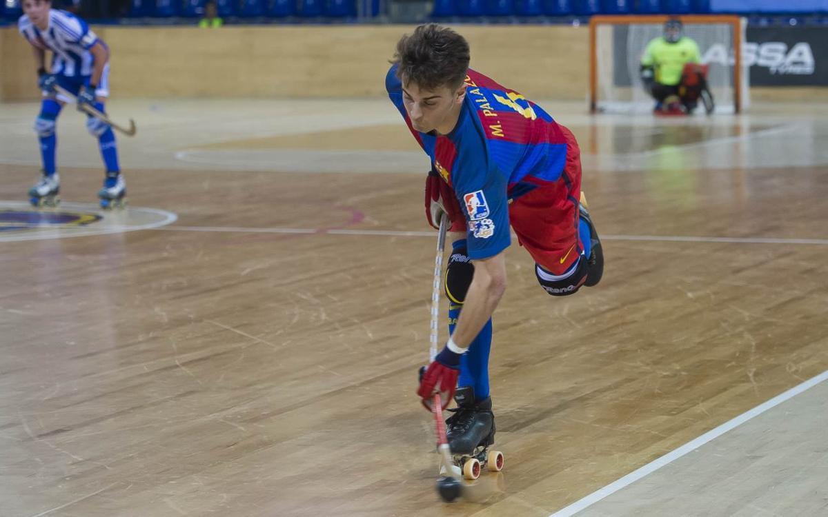 Marc Palazón debuta con el primer equipo del Barça Lassa