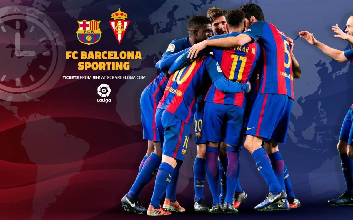 Quan i on es pot veure el FC Barcelona – Sporting de Gijón