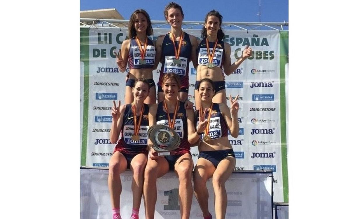 El Barça revalida el título de Cross Corto Femenino en el Campeonato de España