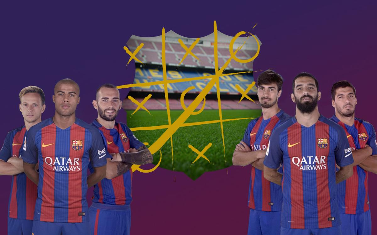Barça work hard and play hard in training