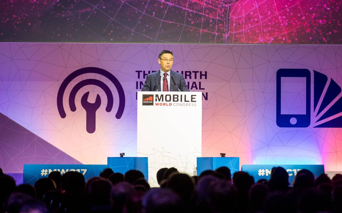 Bartomeu attends Mobile World Congress and announces presentation of the 'Barça Innovation Hub' strategic project on March 22