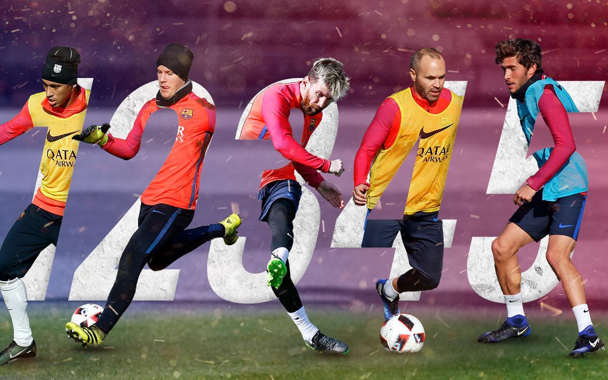 La calidad del entreno del Barça