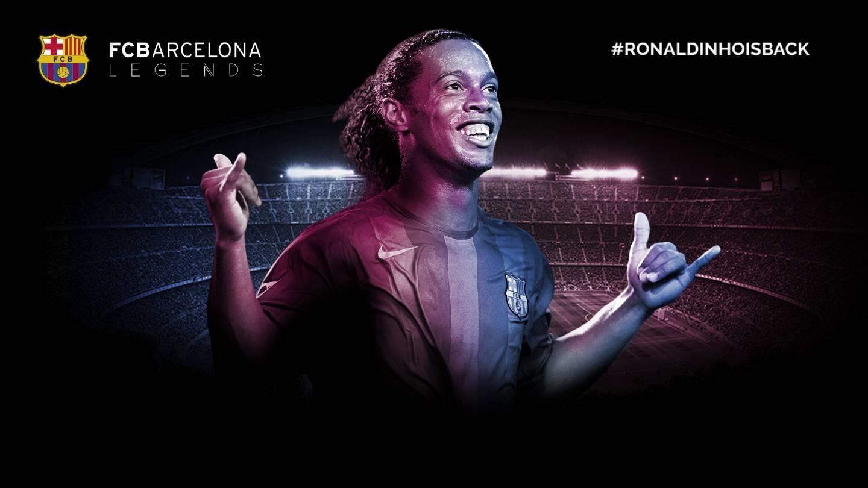 Ronaldinho New Fc Barcelona Ambassador