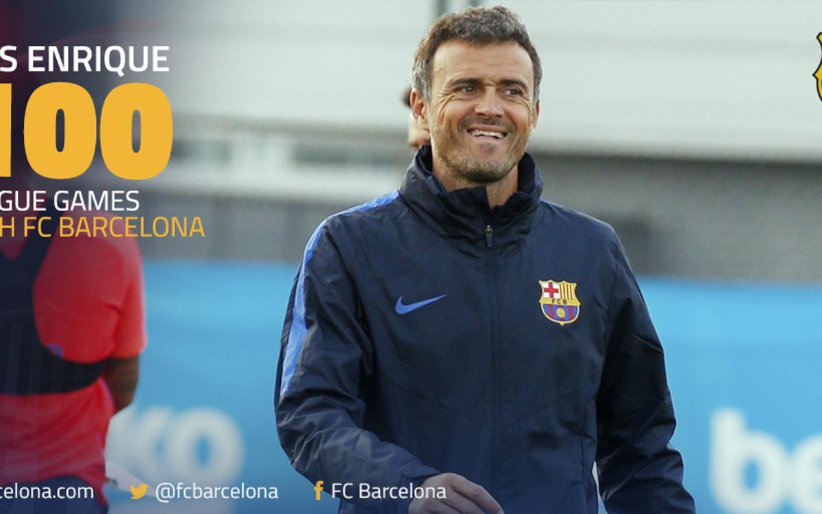 100ème match de Liga pour Luis Enrique sur le banc du FC Barcelone