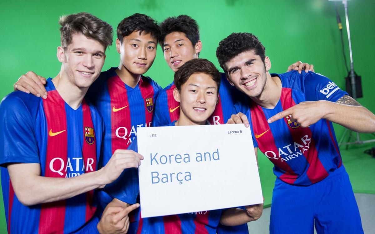 El Barça B participa en l'Any Nou coreà