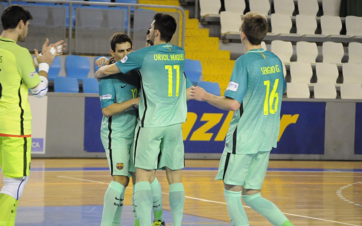 El Barça B es más líder tras la victoria en Lugo (2-7)