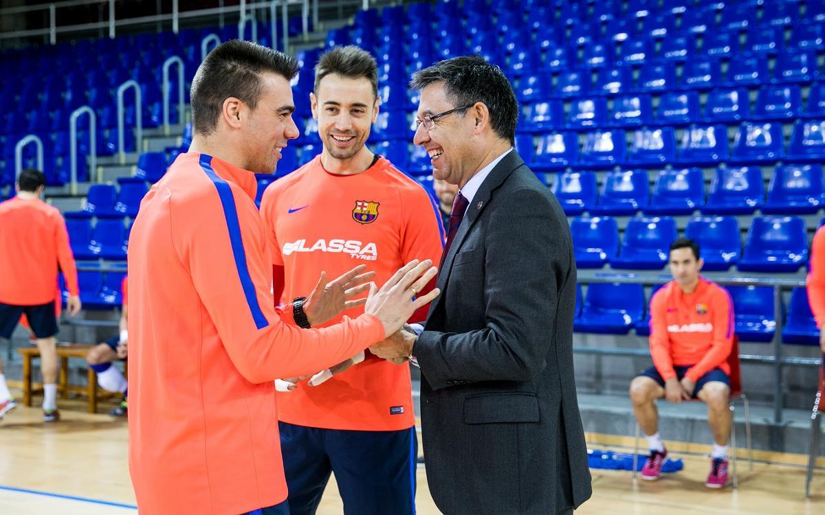 El presidente anima a Sergio Lozano