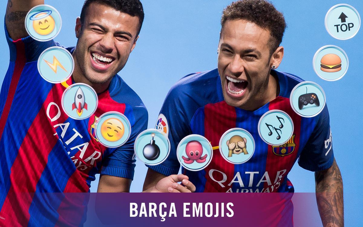 Neymar Jr et Rafinha décrivent leurs coéquipiers du FC Barcelone en emojis