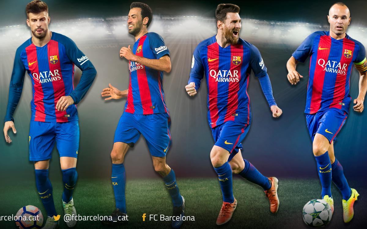 Piqué, Busquets, Iniesta et Messi, recordmans de finales avec le FC Barcelone