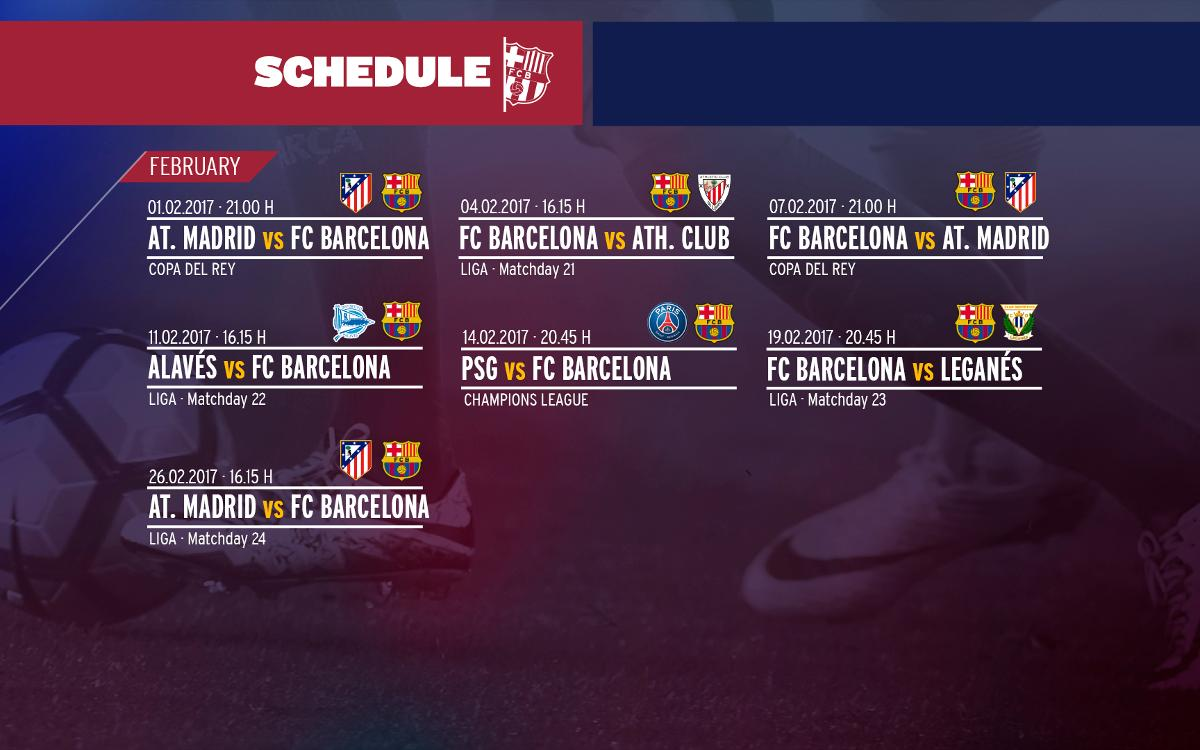 FC Barcelona's demanding winter continues with February onslaught