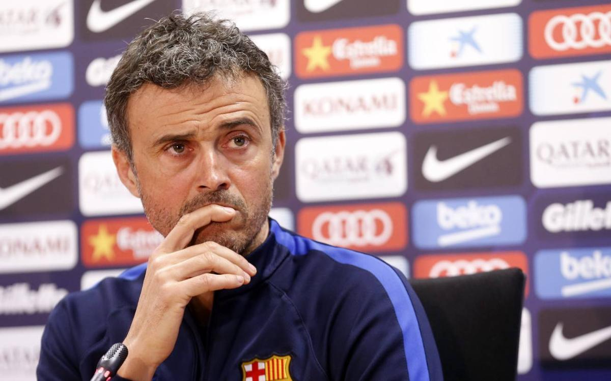 Luis Enrique: It is an important game for both teams