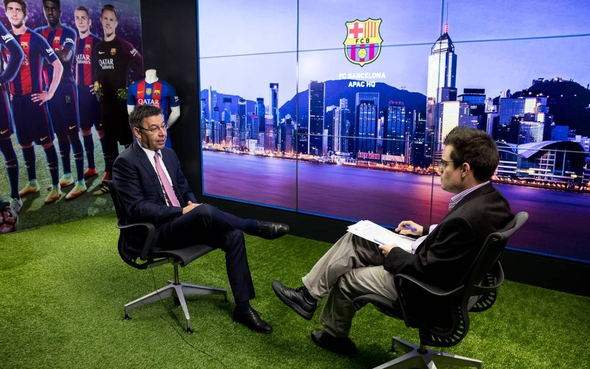 Josep Maria Bartomeu visits Hong Kong office