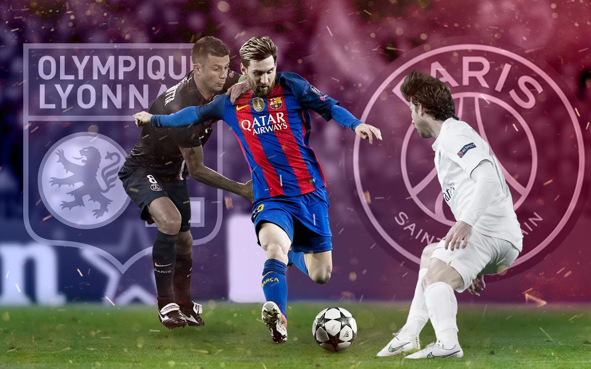 Los goles de Messi contra equipos franceses