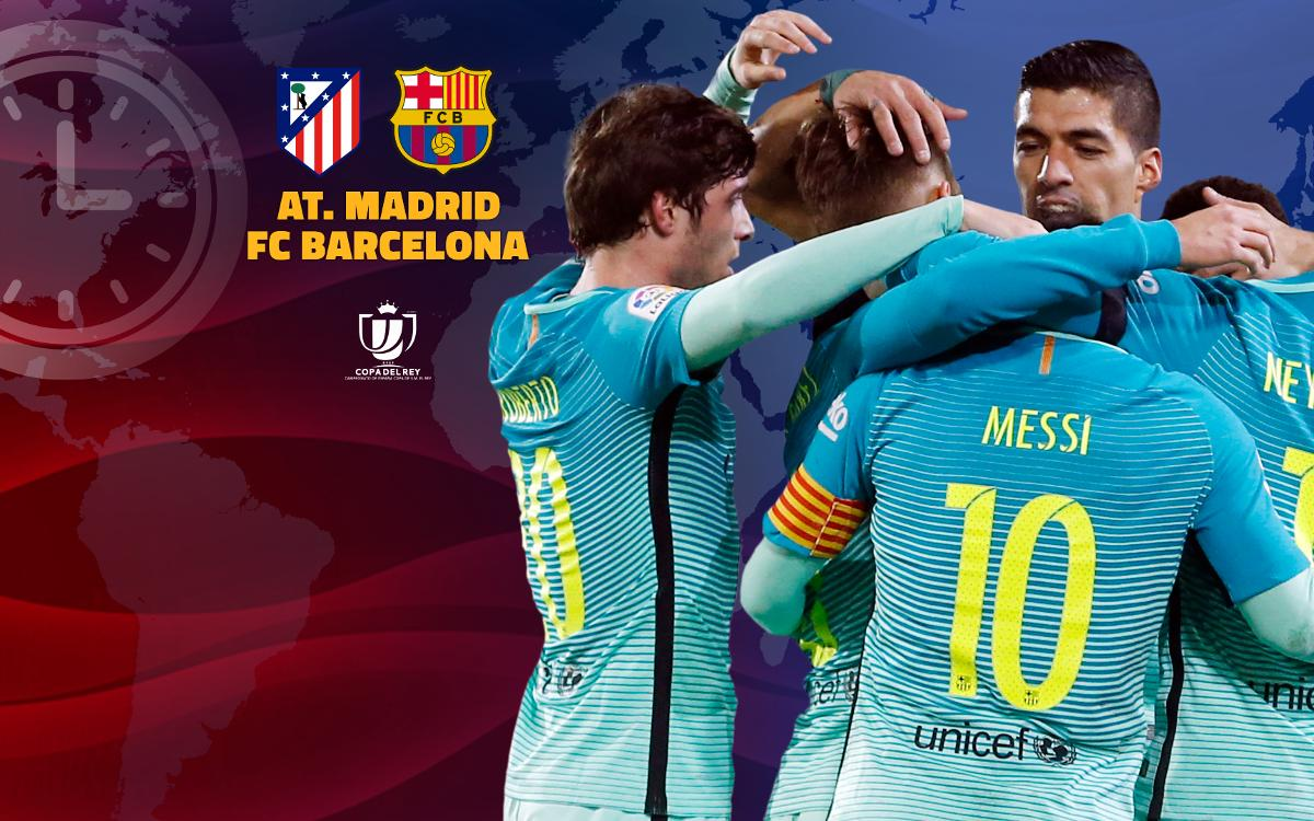 When and where to watch Atlético Madrid v FC Barcelona
