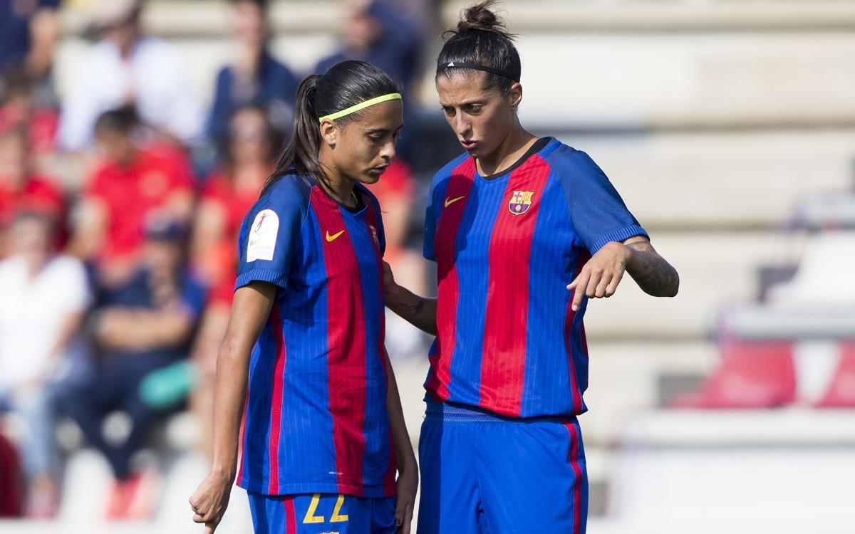 Andressa Alves y Jenni Hermoso, bajas para Zaragoza