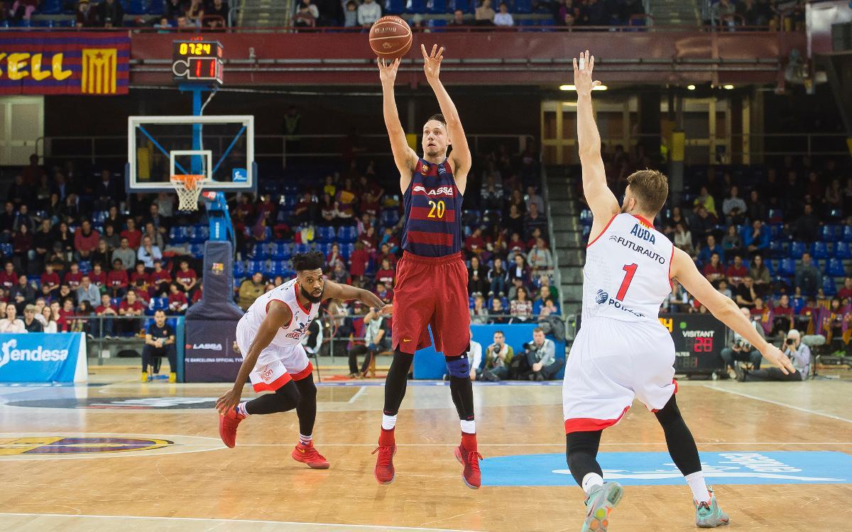 Los 21 puntos de Marcus Eriksson, nueva mejor marca como jugador del Barça Lassa