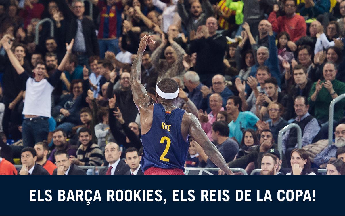 Els Rookies animen l'equip per a la Copa del Rei