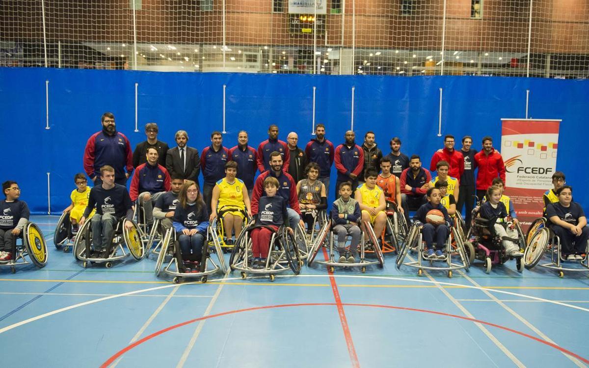 FC Barcelona Lassa spread joy at various hospitals