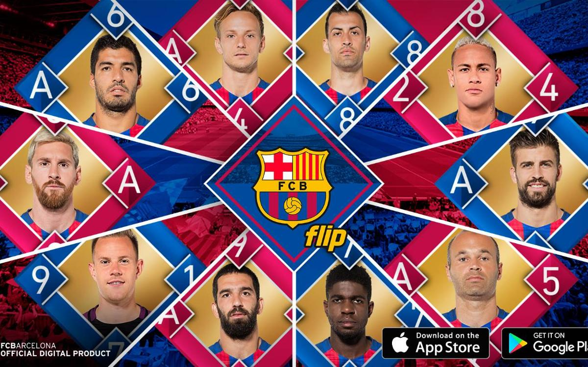FC Barcelona Flip, the new virtual card game app, moves the show from the field to mobile devices