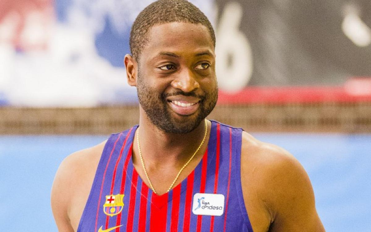 Dwyane Wade visits the Ciutat Esportiva