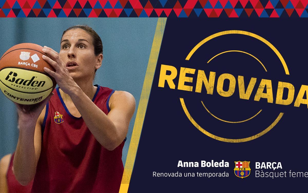 Anna Boleda seguirà una temporada més amb el Barça CBS