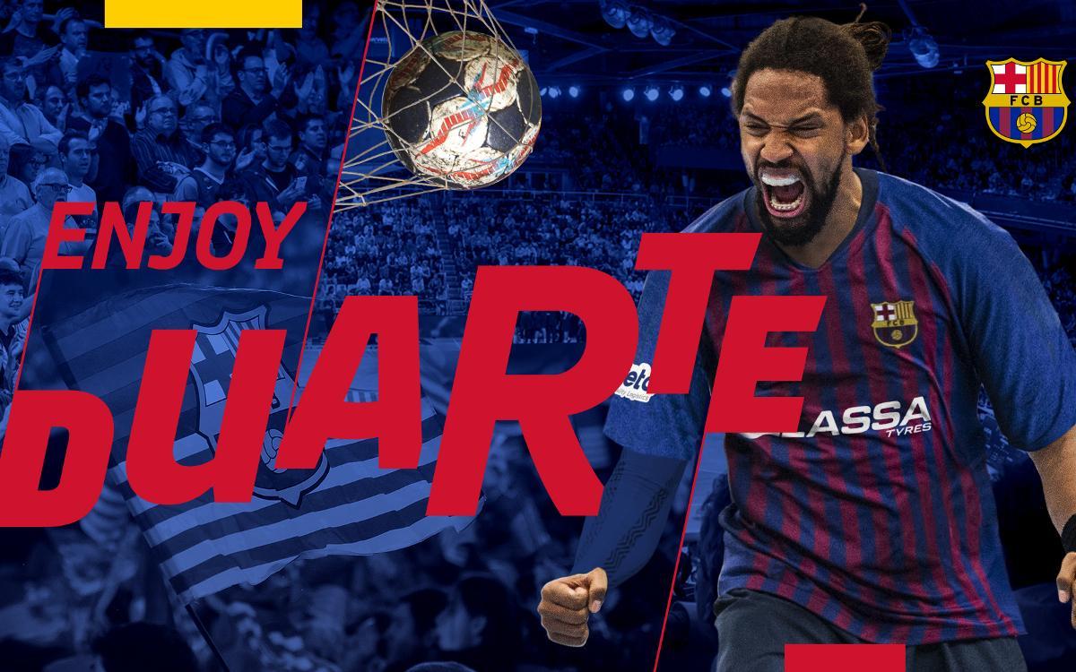 Gilberto Duarte, nuevo jugador del Barça Lassa de balonmano