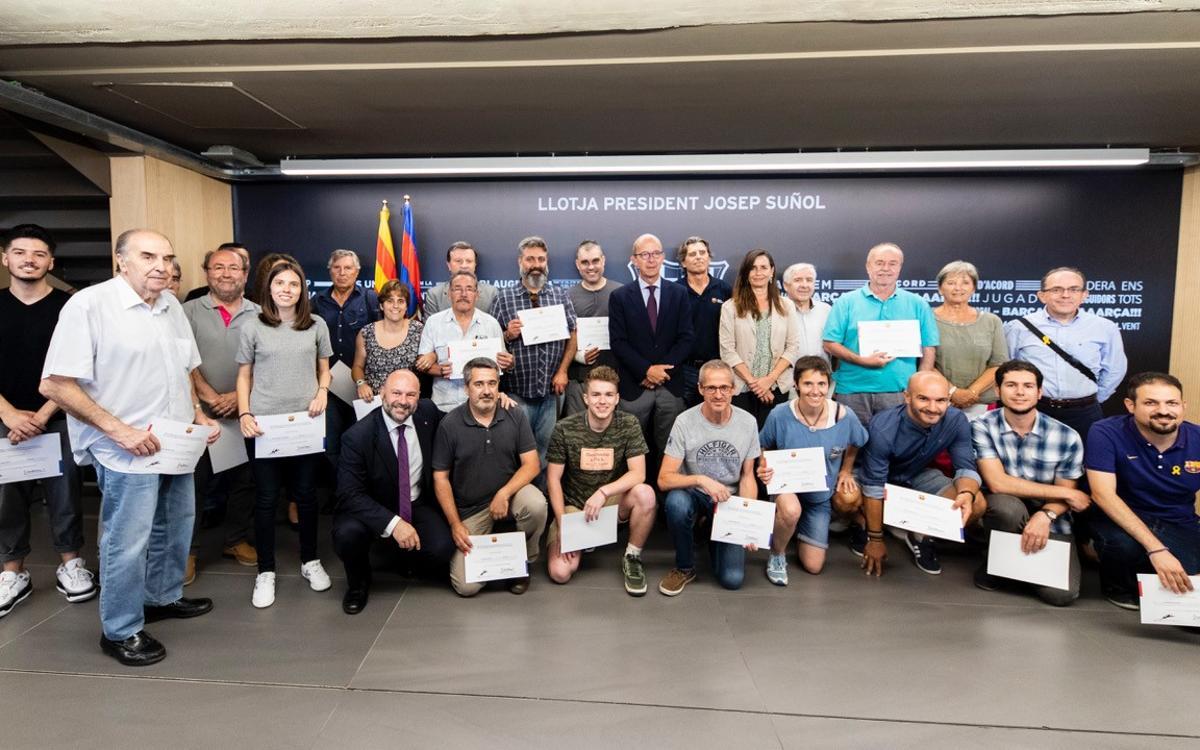 Reconocimiento a la labor de los socios voluntarios en los programas de la Fundació Barça