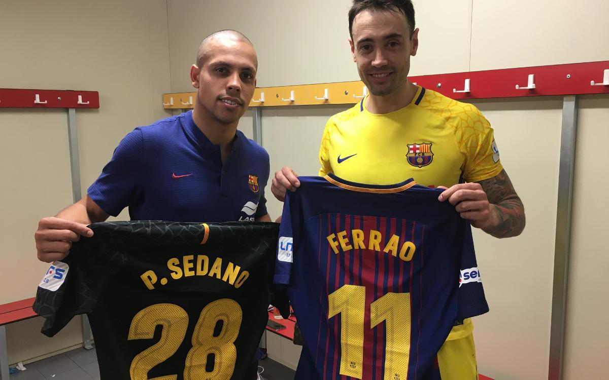 Sedano i Ferrao, entre els millors jugadors de la LNFS 2017/18