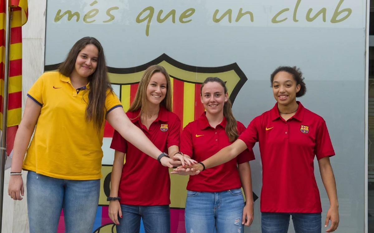 El Barça CBS renueva Regina Aguilar, Paula Curto, Andrea Anton y Julia Rueda