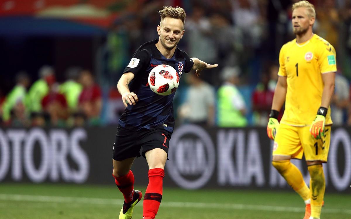 ラキティッチ、決定的なPKを決めてクロアチア進出へ スペインは敗退
