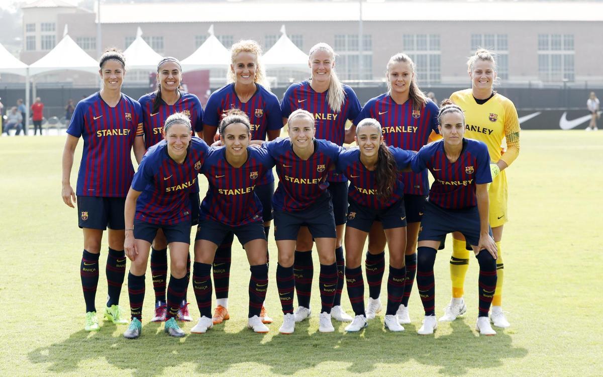 Vuelve a ver el amistoso entre el SoCal y el Barça Femenino